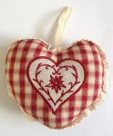 Orange Cinnamon Heart Shape Linen Sachet Box/12