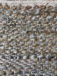Vloerkleed beige leer & jute collectie