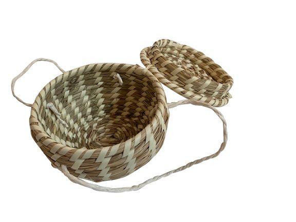 basket wlid beige small whandles