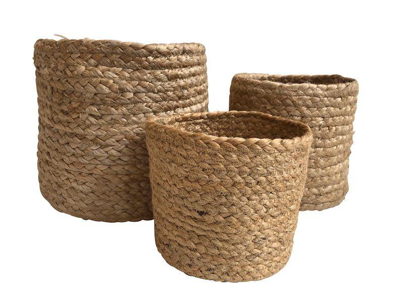 baskets jute braided natural 252015