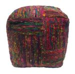 Beanbag Recycled Silk Multi/Black Bloc 40/40/hg40cm