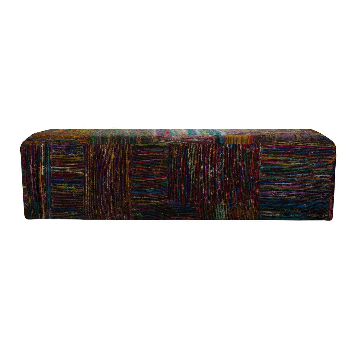 bank sofa rechthoekig silklane zwart multi 160x45x45cm