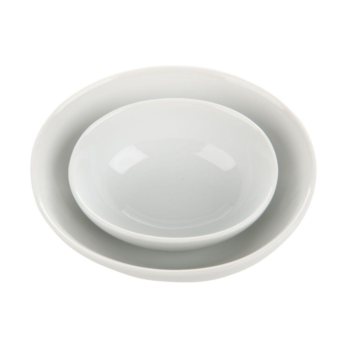 bowl oval 11x10 cm porcelain