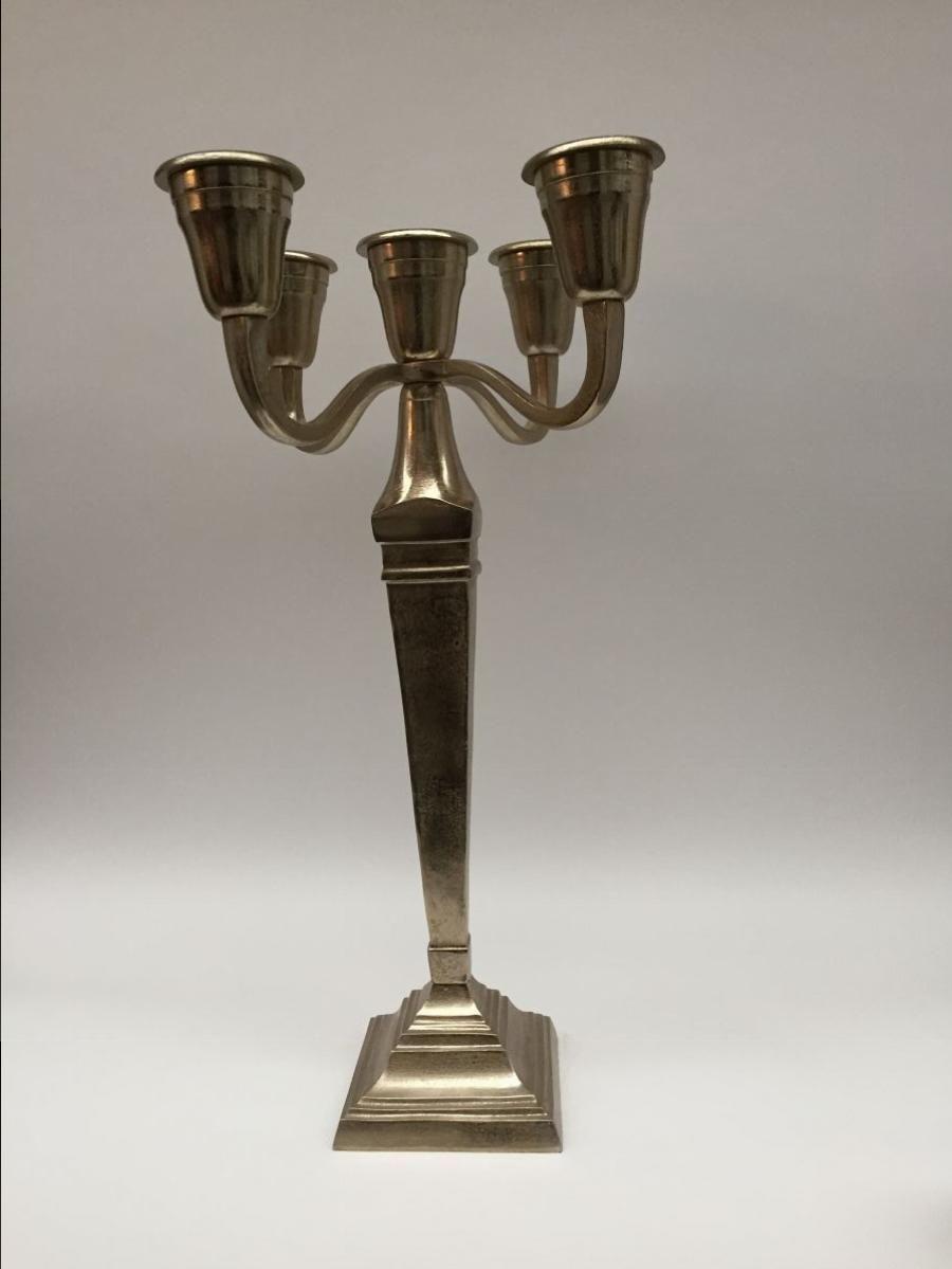 candleholder 5 lights hg 79 cm champagne