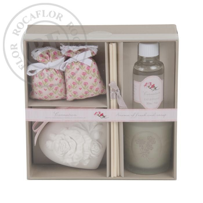 carnation giftset de luxe woil diffuser scented ornament