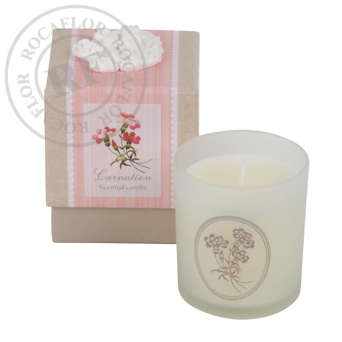 carnation single candle in gift box