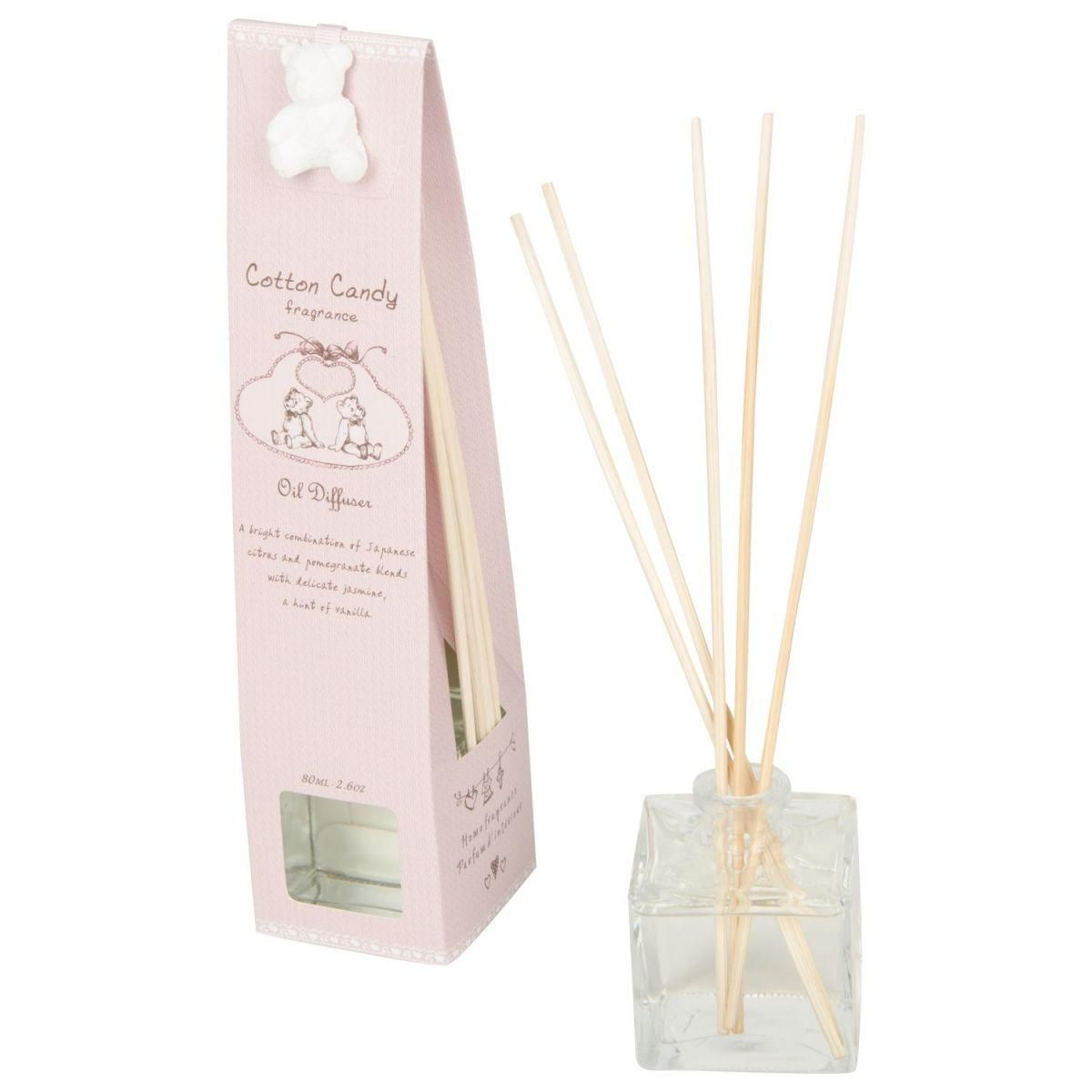 cotton candy giftset oil 80ml diffuser pink
