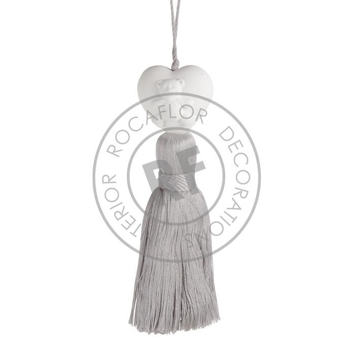 cotton candy ornament wgrey tassel
