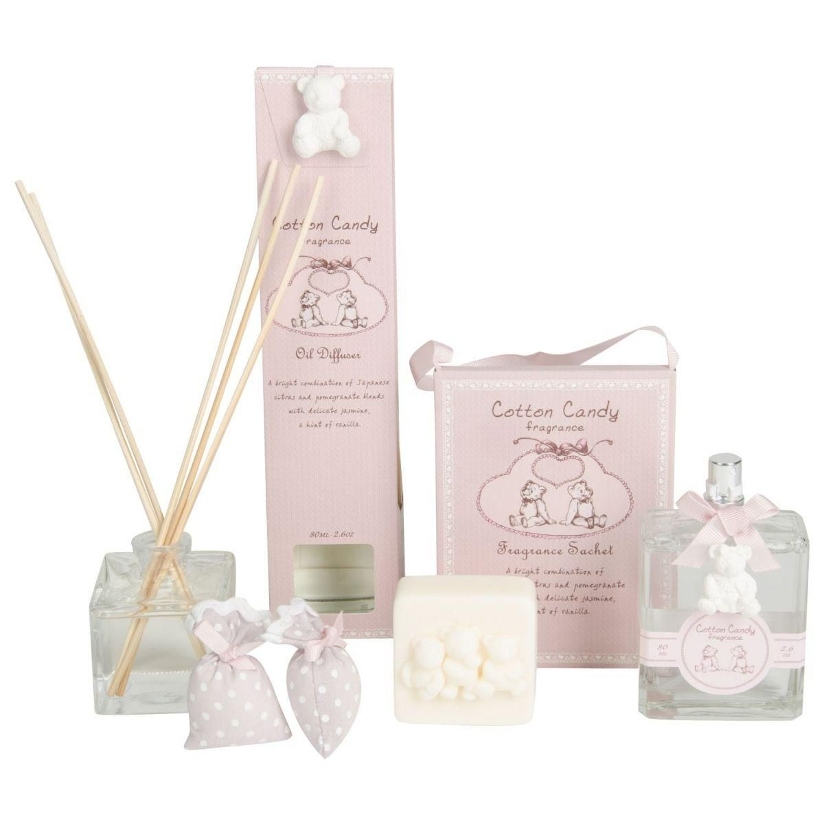 cotton candy roomspray 80ml fragance rose in giftbox