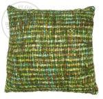 Cushion acrylic green multi colours 50x50cm