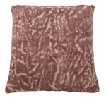 Cushion Block Print Old Pink 50x50cm