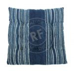 Cushion button Indigo blue 40x40cm