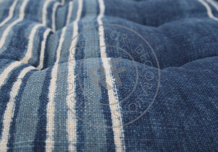 cushion button indigo blue 40x40cm