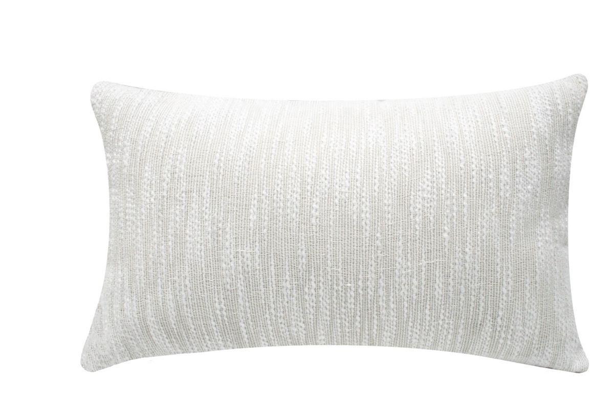 cushion cotton linen pure white 60x40cm