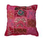 Cushion India Patchwork Fuchsia 30x30cm