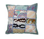 Cushion India Patchwork Pastel Green blue 30x30cm