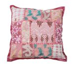 Cushion India Patchwork Pastel pink 30x30cm