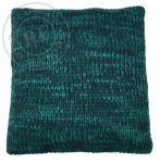 Cushion knitted petrol colours 50x50cm