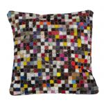 Cushion Leather 80x80cm Multi incl. of filler