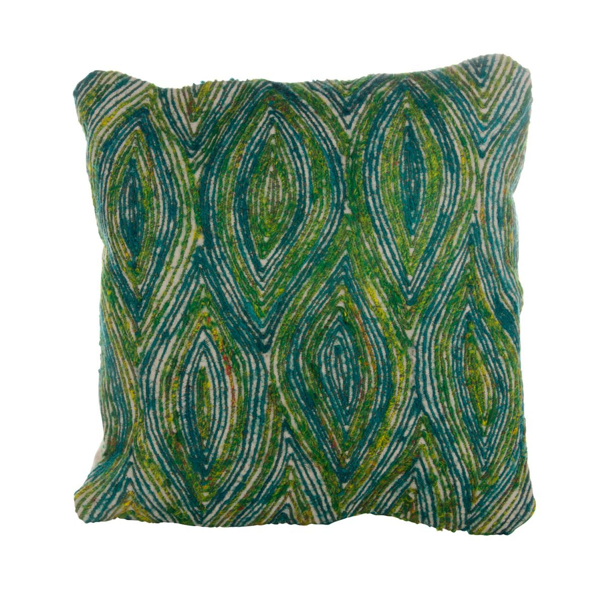 cushion peacock wh 50x50cm incl of filler