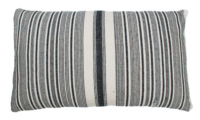 cushion stripe blue white 50x30cm