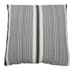 Cushion striped blue ecru 50x50cm