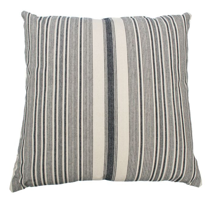 cushion striped blue white 60x60cm