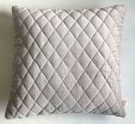 Cushion velvet diamond stitch silver grey 50x50cm
