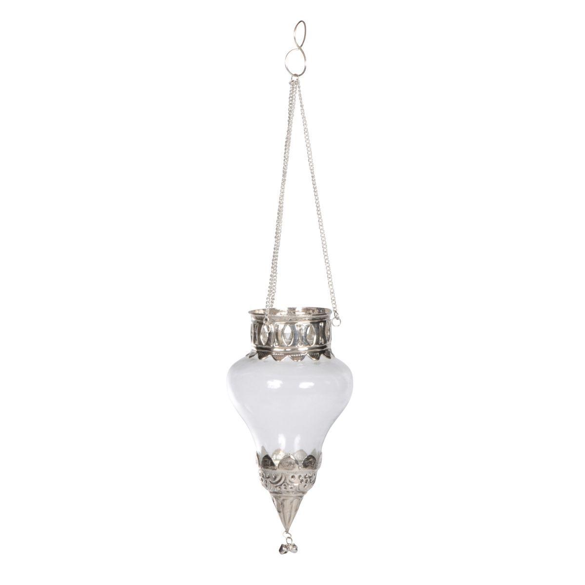 glass hanging tealite