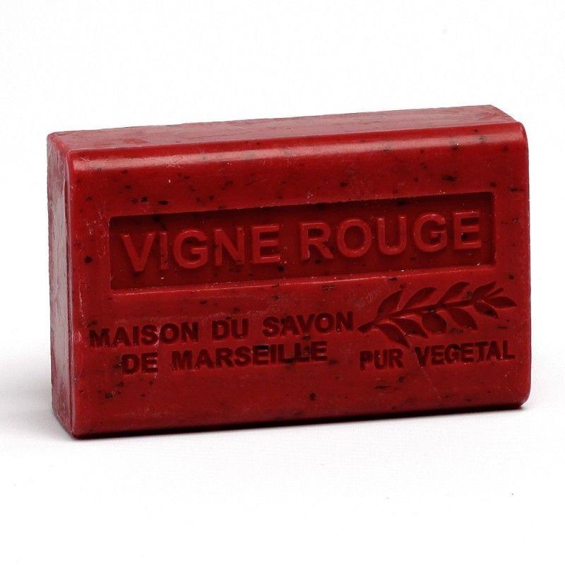 handzeep marseille 125 gr vigne rouge box12