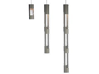 hanging lamp aluminium crystals hg 100 cm 10 cm