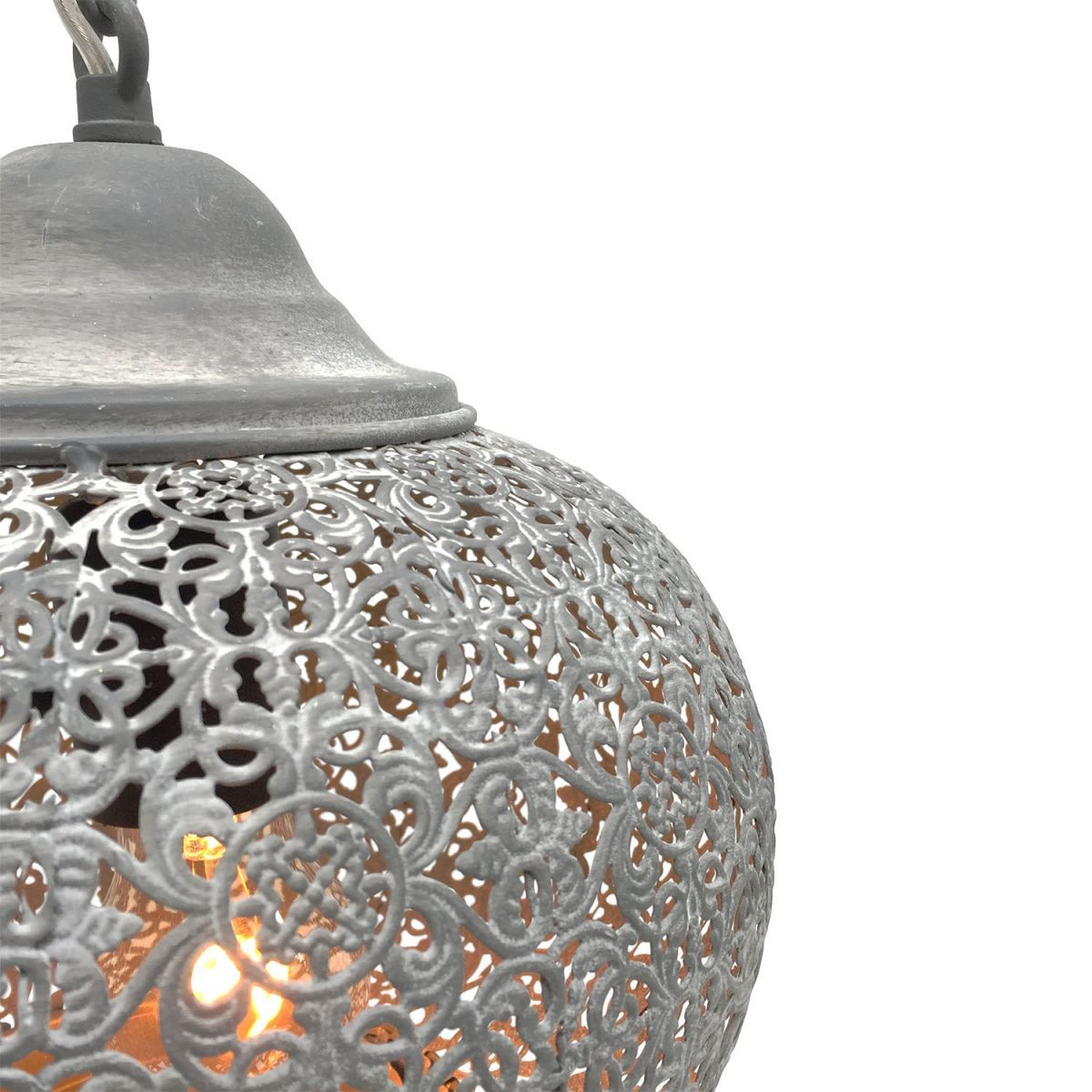 hanging lamp oriental style misty grey 25 hg 25cm