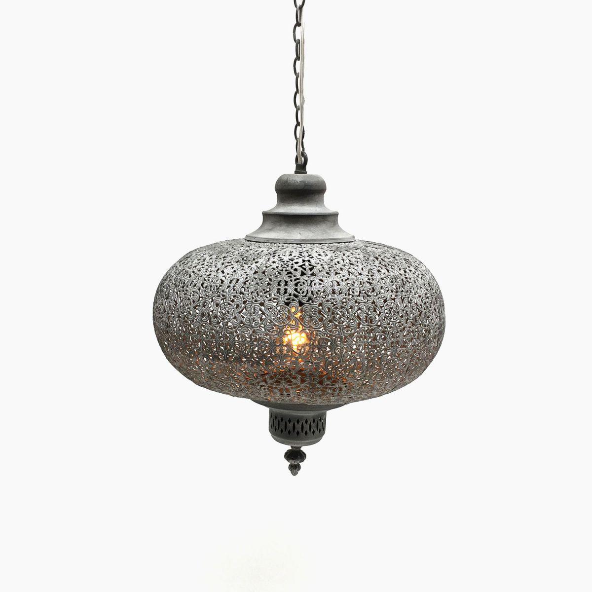 hanging lamp oriental style misty grey 365 hg 34cm