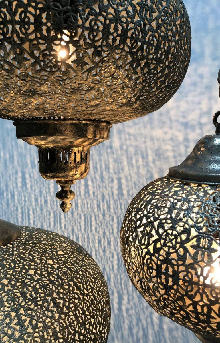 hanglamp filigrain orientaals antiek goud 365 hg 34cm