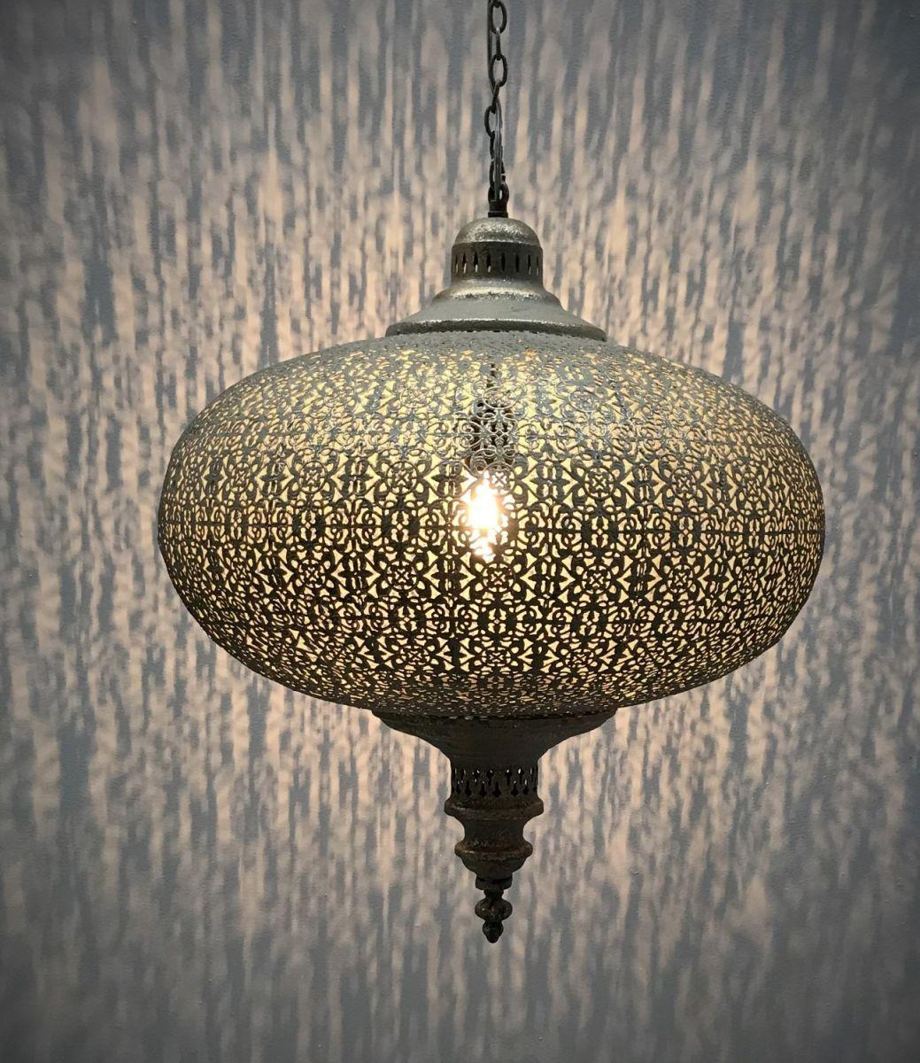 hanglamp filigrain orientaals antiek goud 50x50cm