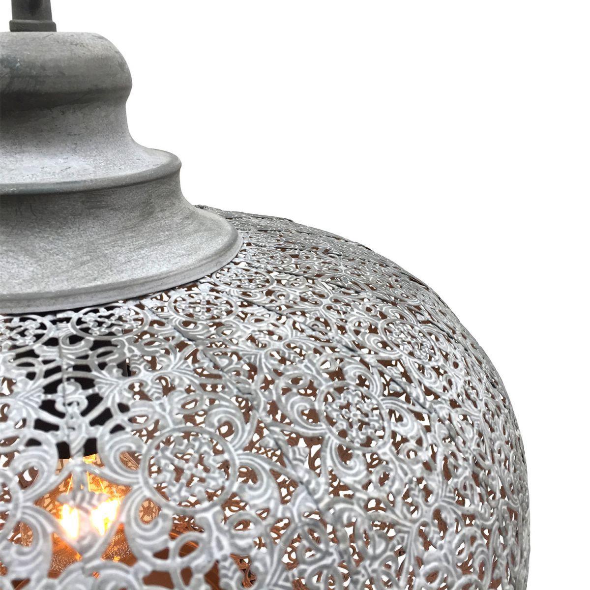 hanglamp filigrain orientaals mistiek grijs 365 hg 34cm