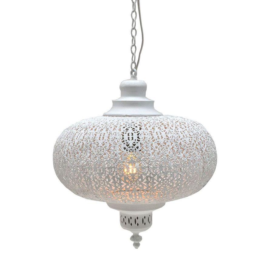 hanglamp filigrain orientaals wit 365 hg 34cm