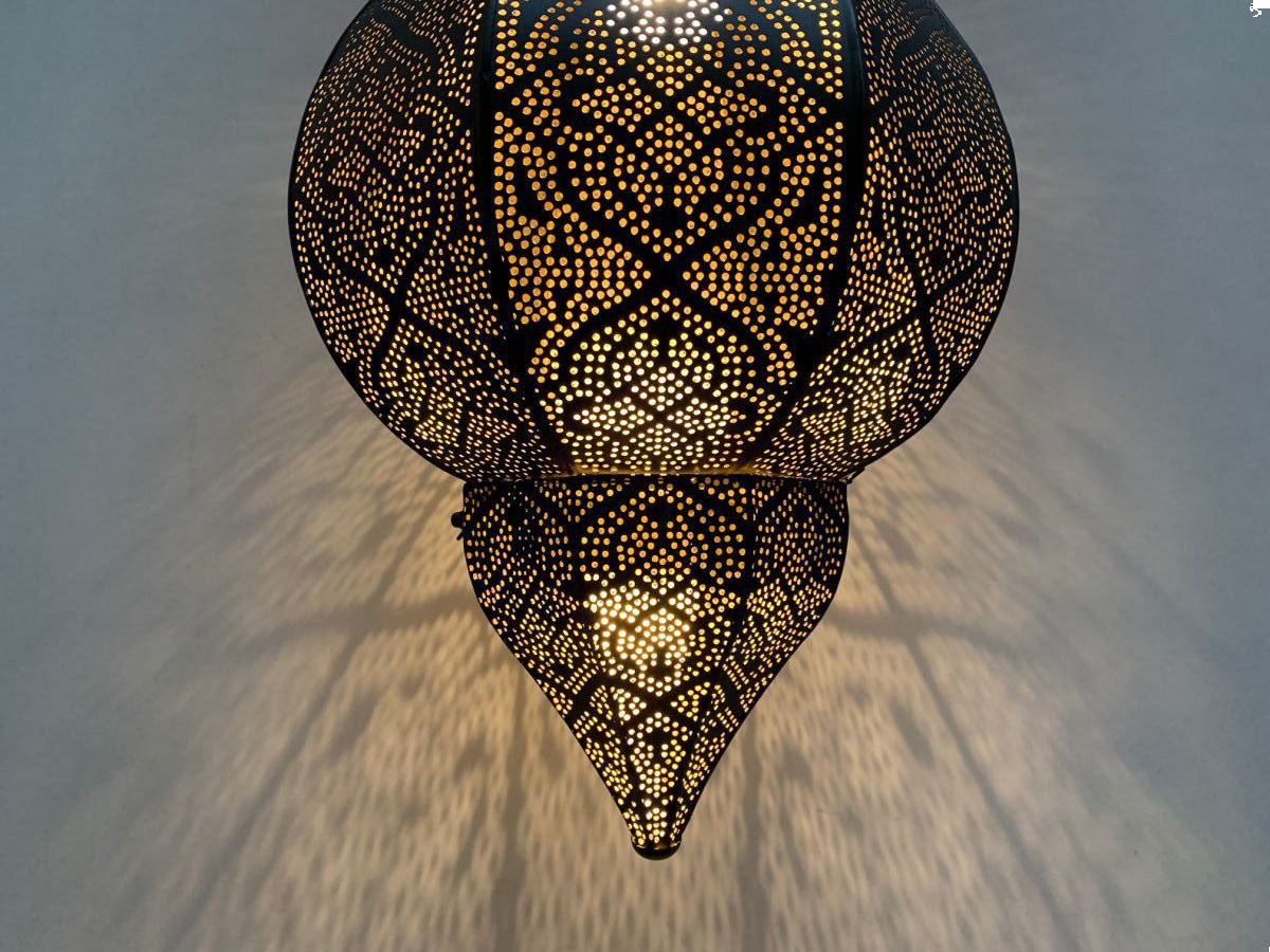 hanglamp oosters hg 38 184 cm zwart goud