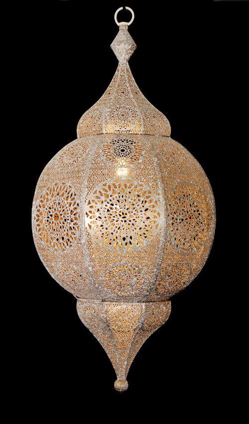 hanglamp orientaals l whitewash goud hg 66 32cm