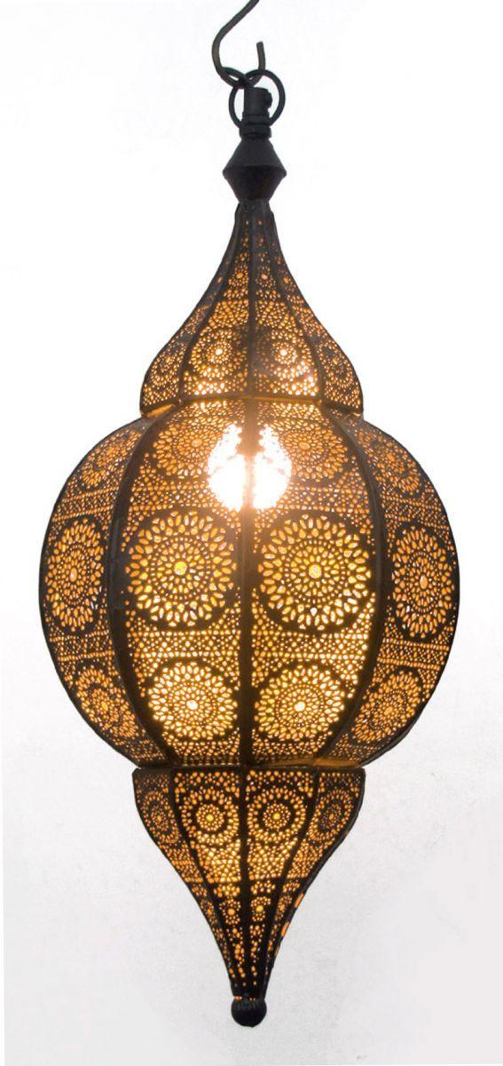 hanglamp orientaals m zwartgoud hg 48 22 cm