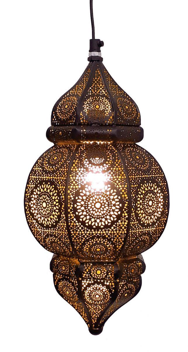 hanglamp orientaals s zwartgoud hg 33 19 cm