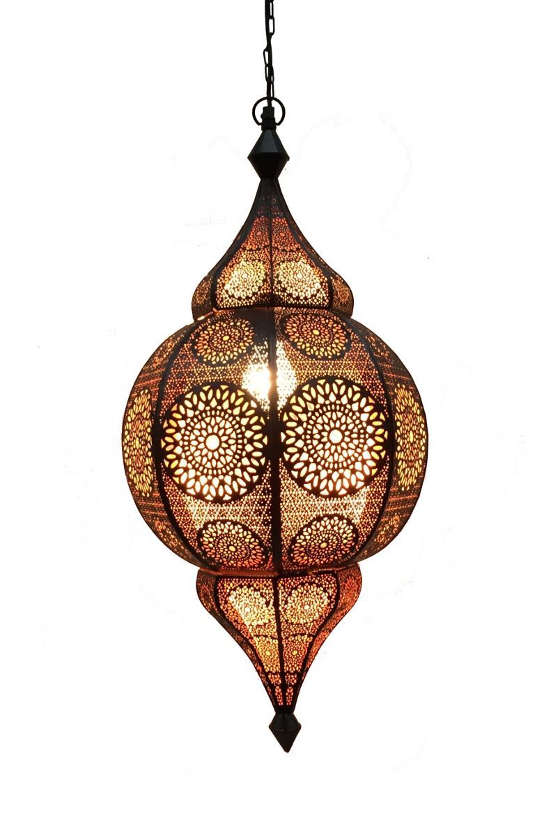hanglamp orientlaals m zwartkoper hg 48 22 cm