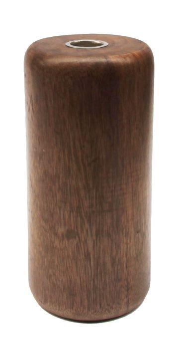 kandelaar hout cilinder groot walnoot hg 19 9 cm