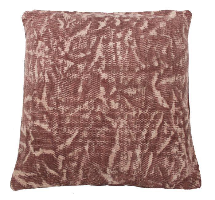 kussen blokprint oud roze 50x50cm