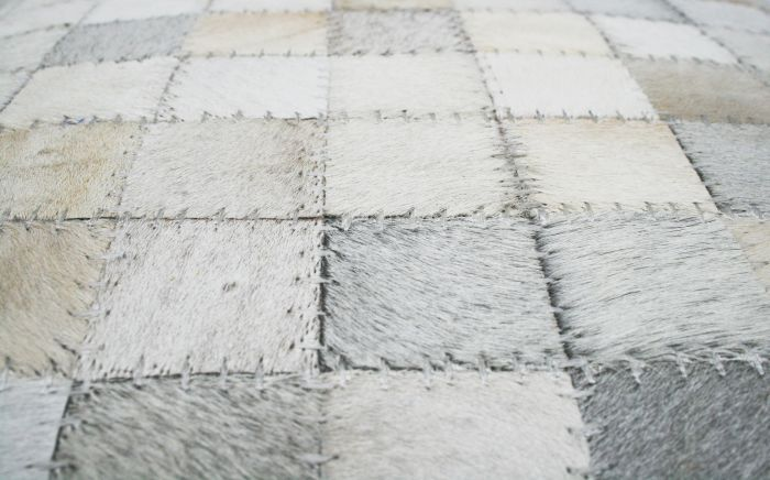 kussen huid wit blok patroon 50x30cm