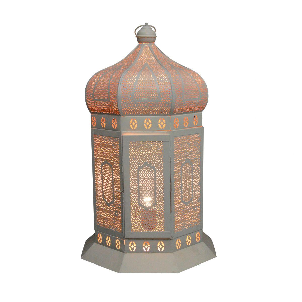 lantern table wglass white taj hg 55 30 cm