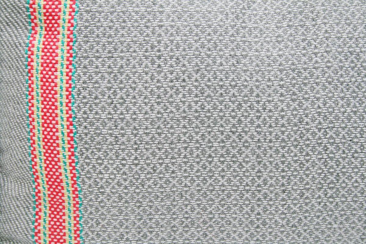 plaid acryllic grey color with neon pink 130x170cm