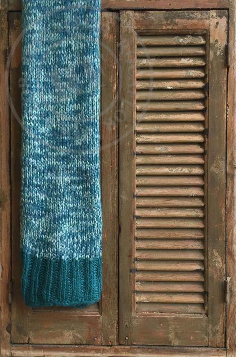 deken gebreid petrol kleuren 130x170cm