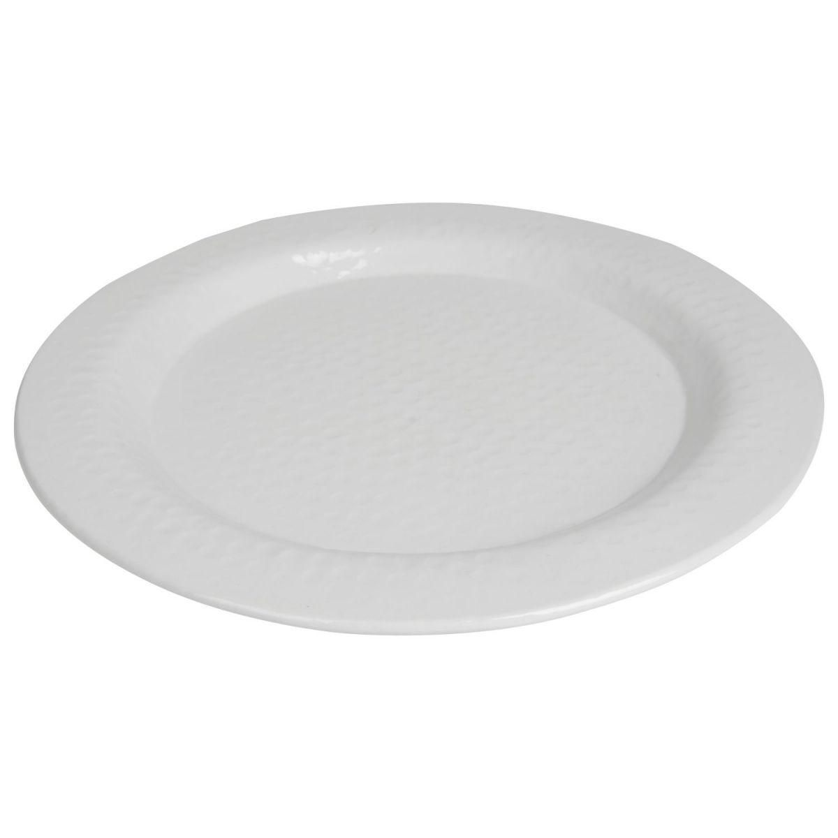 plate hammered white 39cm