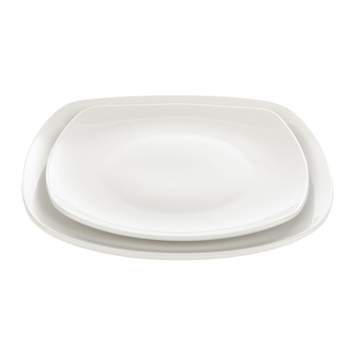 bord porselein vierkant afgeronde hoeken wit 25x25x25cm box6